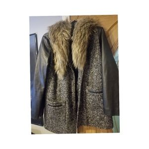 Forever 21 Coat Faux Fur